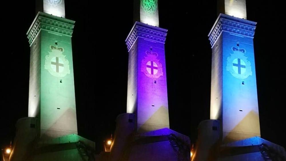 LED Lanterna e Dintorni - Accensione delle nuove luci del faro di Genova